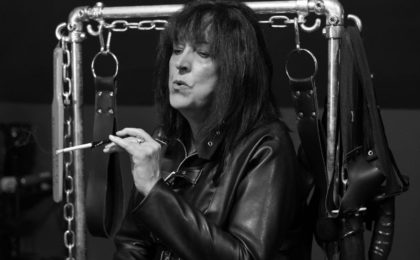 County Durham domme Mistress Orchid demonstrating capnolagnia aka Smoking Fetish